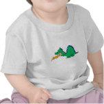 Dragón lindo enojado camisetas