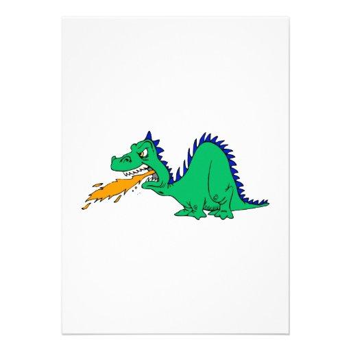Dragón lindo enojado comunicados
