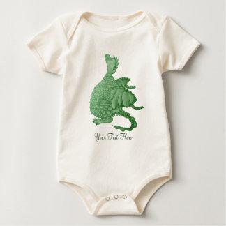 dragón lindo mítico y arte de la criatura de la body para bebé