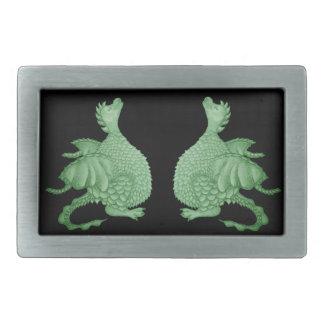 dragón lindo mítico y arte de la criatura de la fa hebillas de cinturón