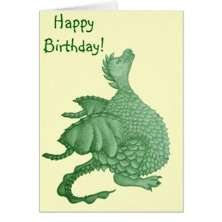 dragón lindo mítico y arte de la criatura de la fa tarjeta de felicitación