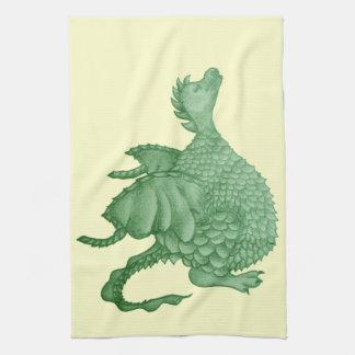dragón lindo mítico y arte de la criatura de la fa toallas