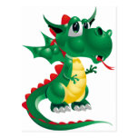 Dragón lindo postal