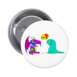¿Dragón lindo Rawr del dinosaurio de Dinos del dib Pin