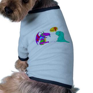 ¿Dragón lindo Rawr del dinosaurio de Dinos del dib Camiseta De Mascota
