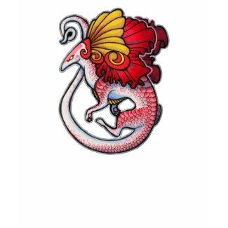 Dragon lizard shirt shirt