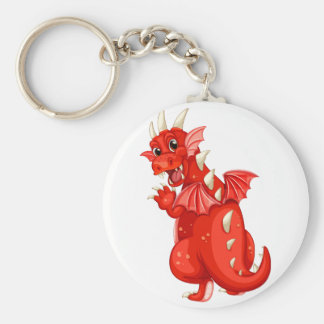Dragón Llavero Redondo Tipo Pin