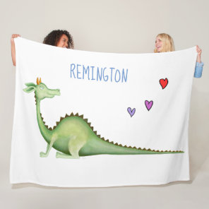 Dragon Looking Back Fleece Blanket