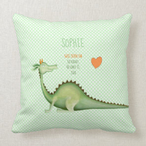 Dragon Looking Back Throw Pillow