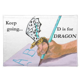 Dragon Looks at ABC Placemat