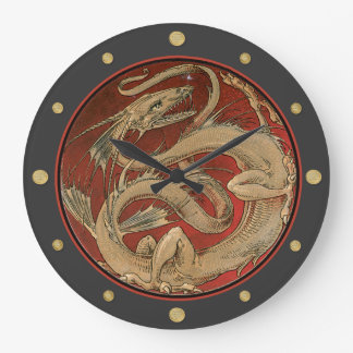 Dragon Lore Art Nouveau Large Clock