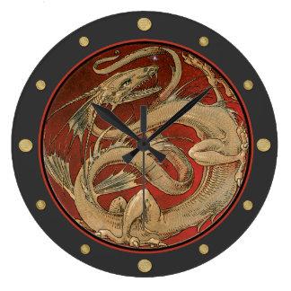Dragon Lore Art Nouveau Large Clock