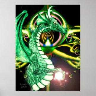 ~Dragon Lore~ Magical Green Dragon Print