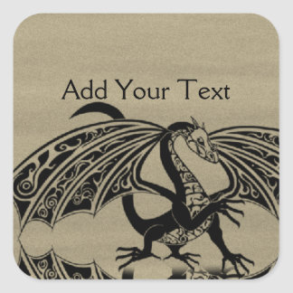 Dragon Love 4 Square Sticker