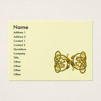 DRAGON LOVE ,gold metallic paper Business Card