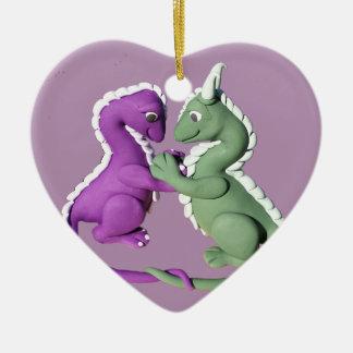Dragon love heart ornament