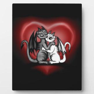 Dragon Lovepair Plaque