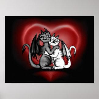 Dragon Lovepair Poster