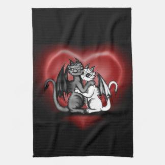 Dragon Lovepair Towels