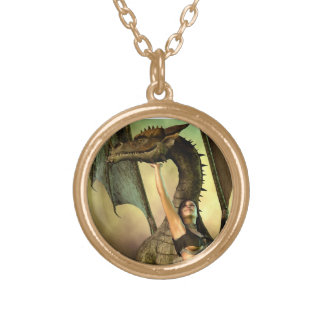 Dragon Lover Round Pendant Necklace