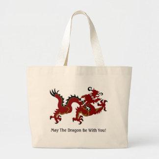 Dragon Luck Mall Canvas Bag