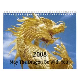 Dragon Luck Mall Wall Calendar