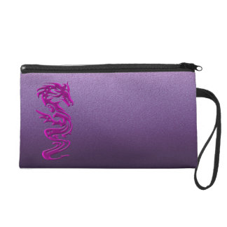 Dragon magenta wristlet purse
