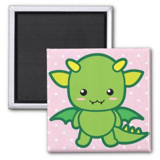Dragon 2 Inch Square Magnet
