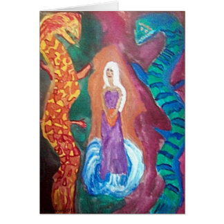 Dragon Maiden Notecard