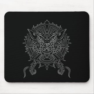 Dragon Mandala Tattoo Design Mouse Pad