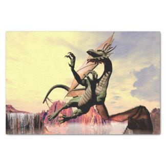 Dragón maravilloso papel de seda pequeño