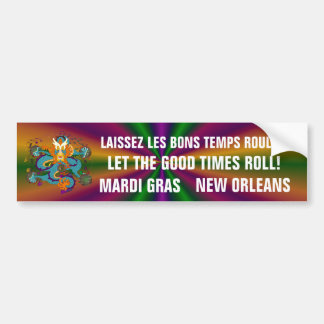 Dragon Mardi Gras Car Bumper Sticker