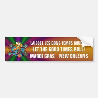 Dragon Mardi Gras Bumper Sticker