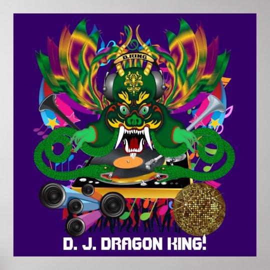 Dragon Mardi Gras Theme Plse View Notes Poster