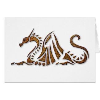 Dragón martillado del moho tarjeta