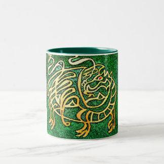 Dragon maze Two-Tone coffee mug