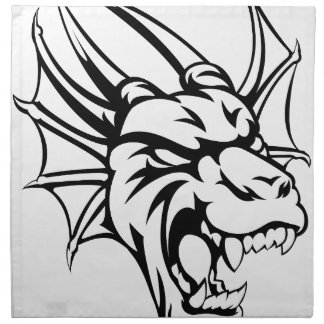 Dragon Mean Animal Mascot Cloth Napkin