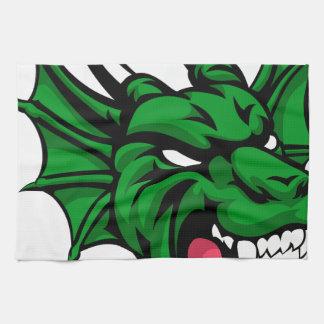 Dragon Mean Animal Mascot Kitchen Towel