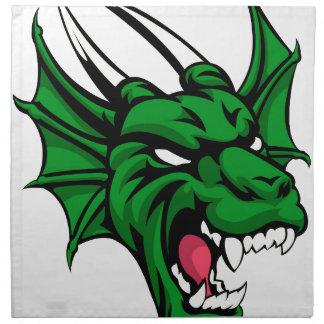 Dragon Mean Animal Mascot Napkin