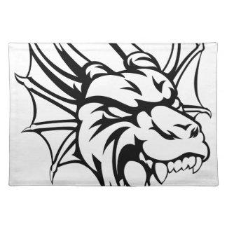 Dragon Mean Animal Mascot Placemat