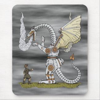 Dragón mecánico Mousepad Tapete De Ratón