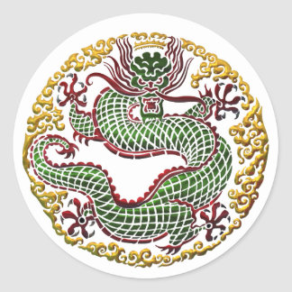 Dragon Medallion Classic Round Sticker