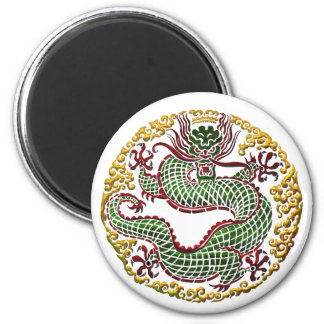 Dragon Medallion 2 Inch Round Magnet