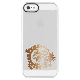 Dragón medieval - cobre - caja clara del teléfono funda clear para iPhone SE/5/5s