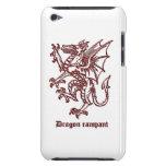 Dragón medieval de la heráldica iPod Case-Mate fundas