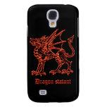 Dragón medieval de la heráldica statant
