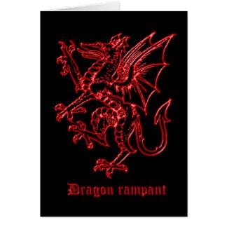 Dragon medieval heraldry card