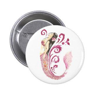 Dragon Mermaid Ember Button