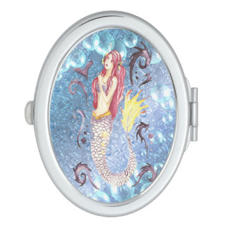 Dragon Mermaid Scarlet Makeup Mirror