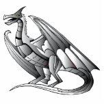 Dragón metálico de plata esculturas fotograficas